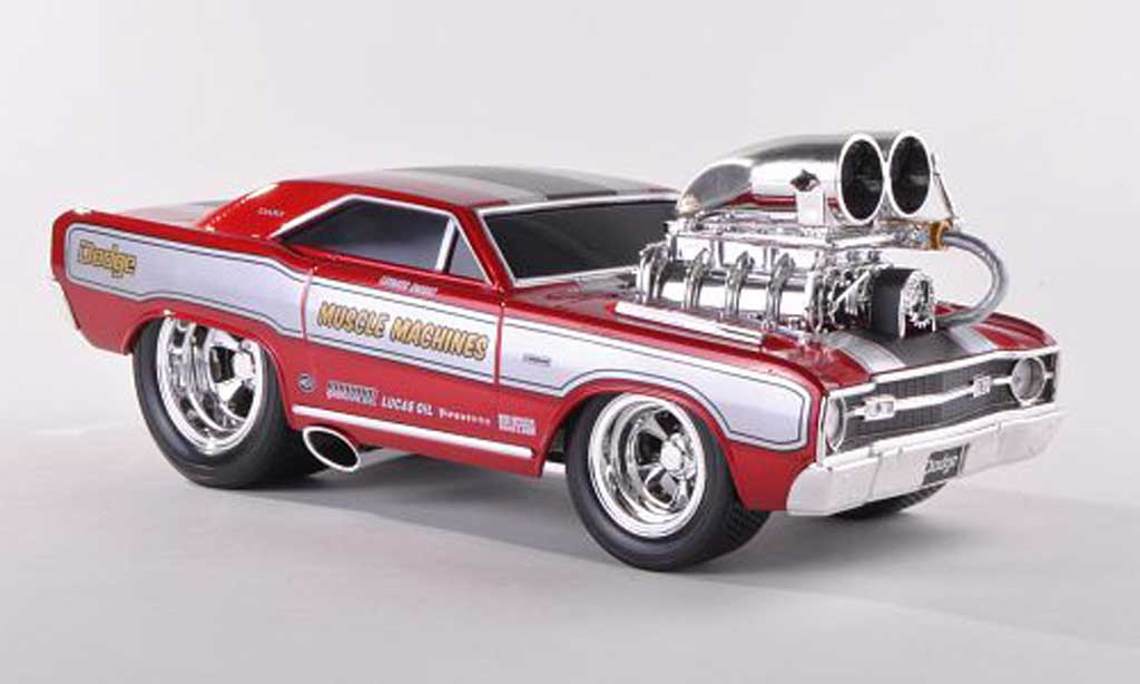 Dodge Dart 1968 1/18 Maisto Super Stock HEMI rouge miniature