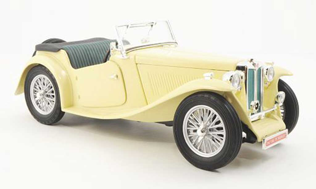 MG TC 1/18 Yat Ming Midget beige RHD 1947 diecast model cars