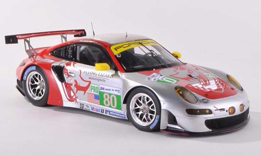 Porsche 997 GT3 RSR 1/43 Spark 2012 No.80 vol Lizard Motorsports 24h Le Mans J.Bergmeister/M.Hozler/P.Long miniature
