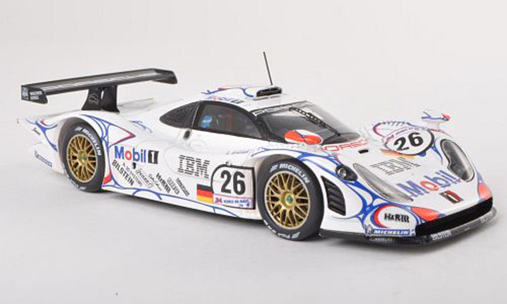 Porsche 993 GT1 1/43 Spark GT1 No.26 Mobil 24h Le Mans 1998 A.McNish/L.Aiello/S.Ortelli miniature