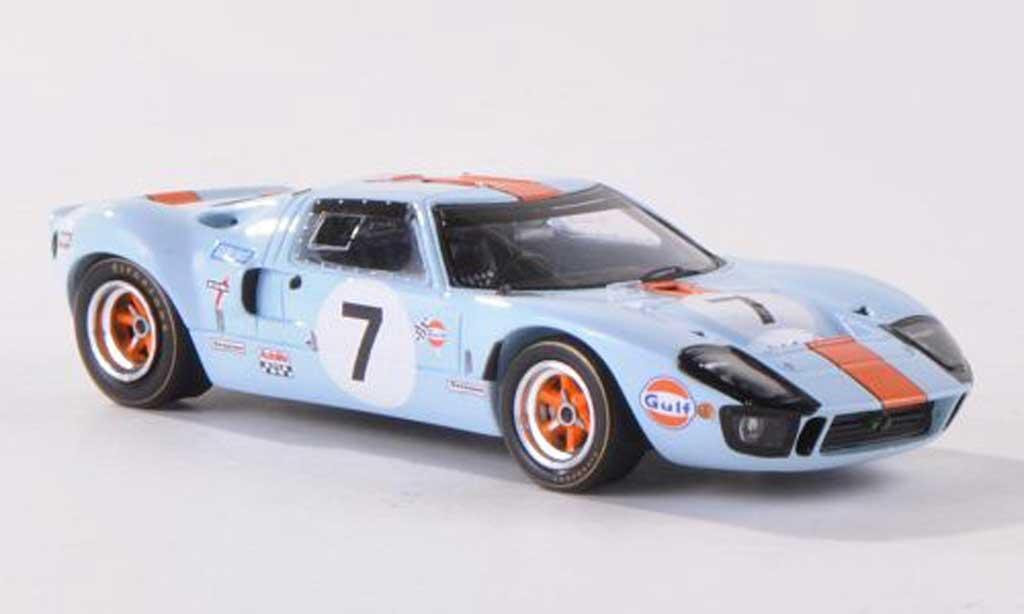 Ford GT 40 1/43 Spark No.7 Gulf 24h Le Mans  1969 D.Hobbs/M.Hailwood miniature