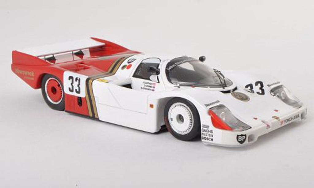 Porsche 956 1985 1/43 Spark No.33 American 100's 24h Le Mans J.Gartner/grau.Hobbs/G.Edwards modellautos