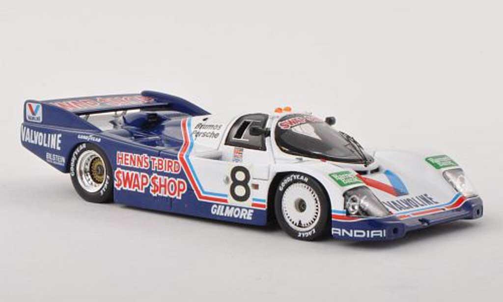 Porsche 962 1985 1/43 Spark No.8 Valvoline 24h Daytona A.J.Foyt/B.Wollek/A.Unser/T.Boutsen miniature