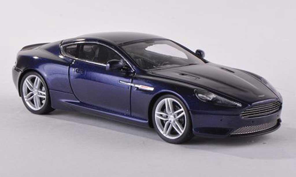 Aston Martin Virage 1/43 Spark black-bleu 2012 diecast model cars