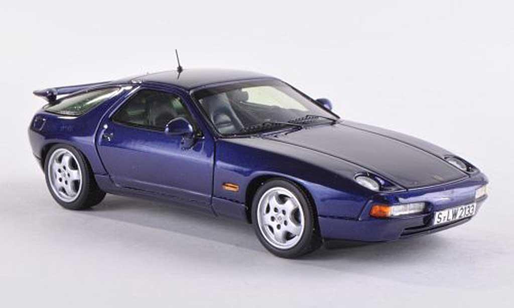Porsche 928 1992 1/43 Spark GTS black-bleu diecast