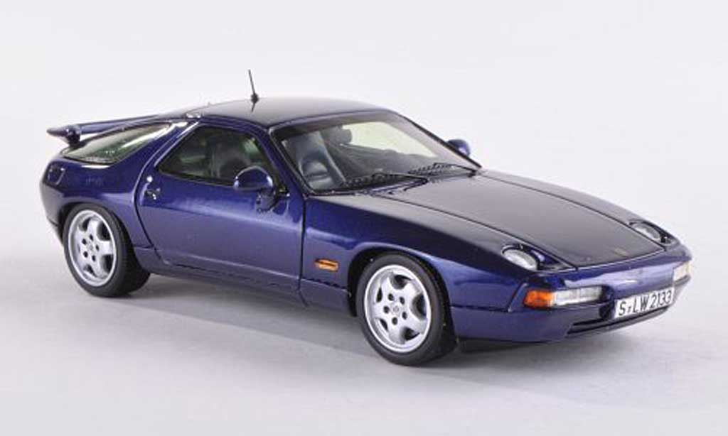 Porsche 928 1992 1/43 Spark GTS noire-bleu miniature