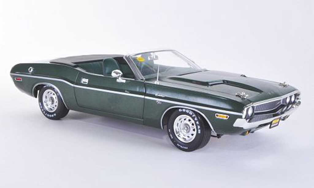 Dodge Challenger 1970 1/18 Greenlight Hemi Convertible R/T green diecast