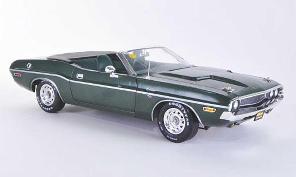 Dodge Challenger 1970 1/18 Greenlight Hemi Convertible R/T grun miniature