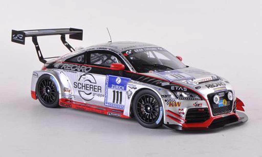 Audi TT RS 1/43 Spark No.111 Scherer 24h Nurburgring 2012 S.Landmann/C.Breuer/J.Wohlfarth/E.Deegener miniature