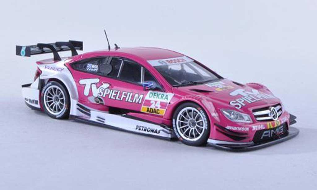 Mercedes Classe C DTM 1/43 Spark C-Coupe No.24 TV Spielfilm DTM-Saison  2012 S.Wolff miniature