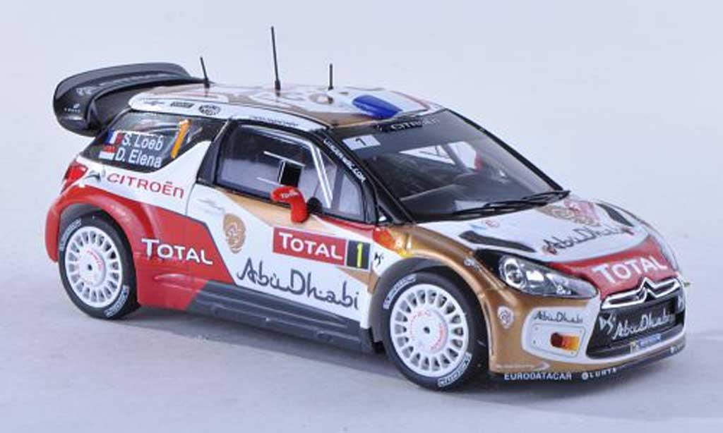 DS Automobiles DS3 WRC 2013 1/43 Spark No.1 Abu Dhabi Rally Monte Carlo S.Loeb/D.Elena miniature