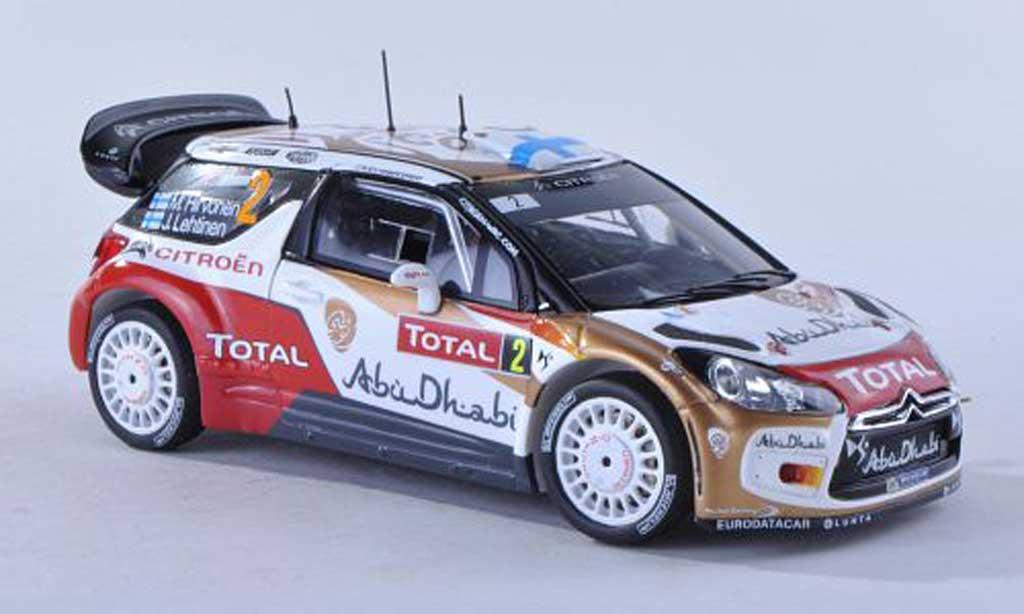 DS Automobiles DS3 WRC 2013 1/43 Spark No.2 Abu Dhabi Rally Monte Carlo M.Hirvonen/J.Lehtinen miniature