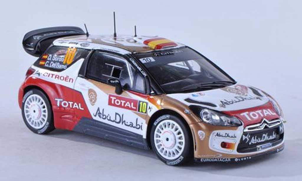DS Automobiles DS3 WRC 2013 1/43 Spark No.10 Abu Dhabi Rally Monte Carlo D.Sordo/C.Del Barrio diecast