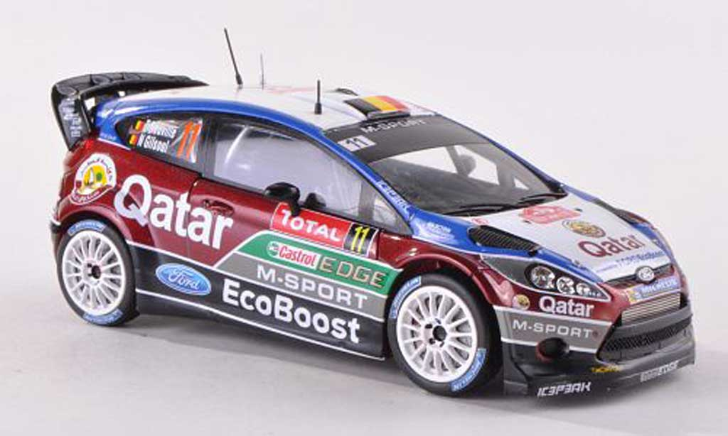 Ford Fiesta WRC 1/43 Spark No.11 M-Sport/Qatar Rally Monte Carlo 2013 T.Neuville/N.Gilsoul diecast model cars
