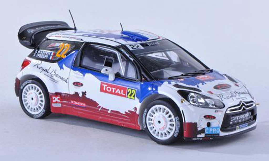 DS Automobiles DS3 WRC 2013 1/43 Spark No.22 royal Bernard Rally Monte Carlo B.Bouffier/X.Panseri miniature