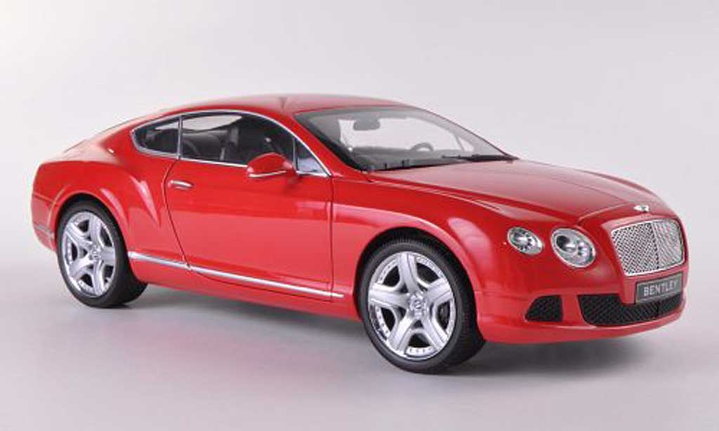 Bentley Continental GT 1/18 Minichamps rosso  2011 miniatura