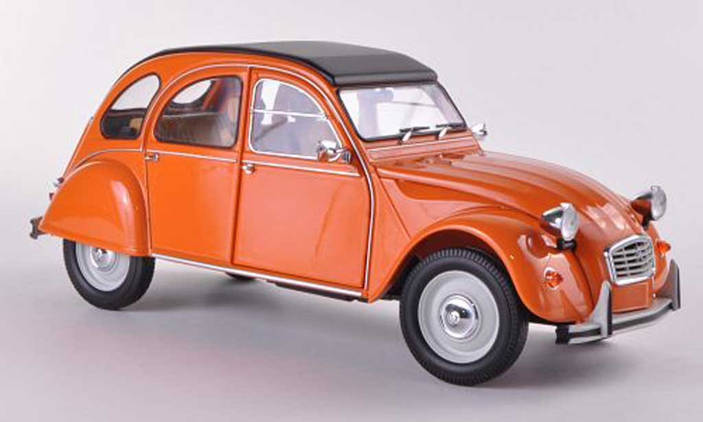 Citroen 2CV 1/18 Minichamps orange  1976 miniature
