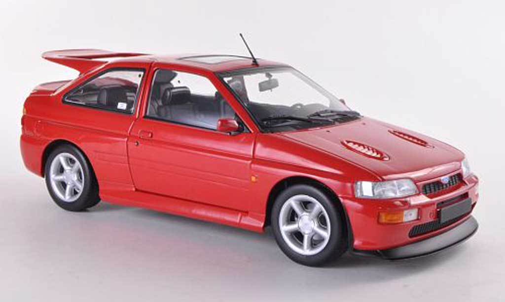 Ford Escort Cosworth 1/18 Minichamps rouge 1992 miniature