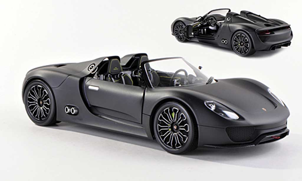 Porsche 918 2010 1/43 Minichamps Spyder mat-black diecast model cars