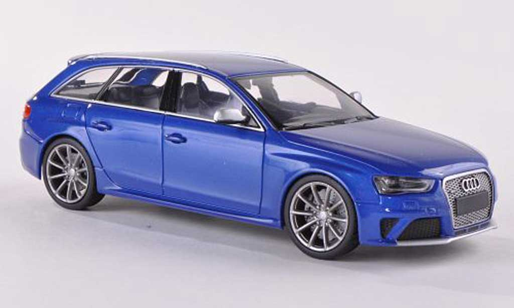 Audi RS4 1/43 Minichamps Avant bleue  2012 miniature