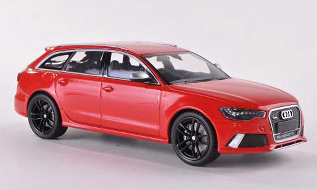 Audi RS6 1/43 Minichamps Avant rouge  2012 miniature