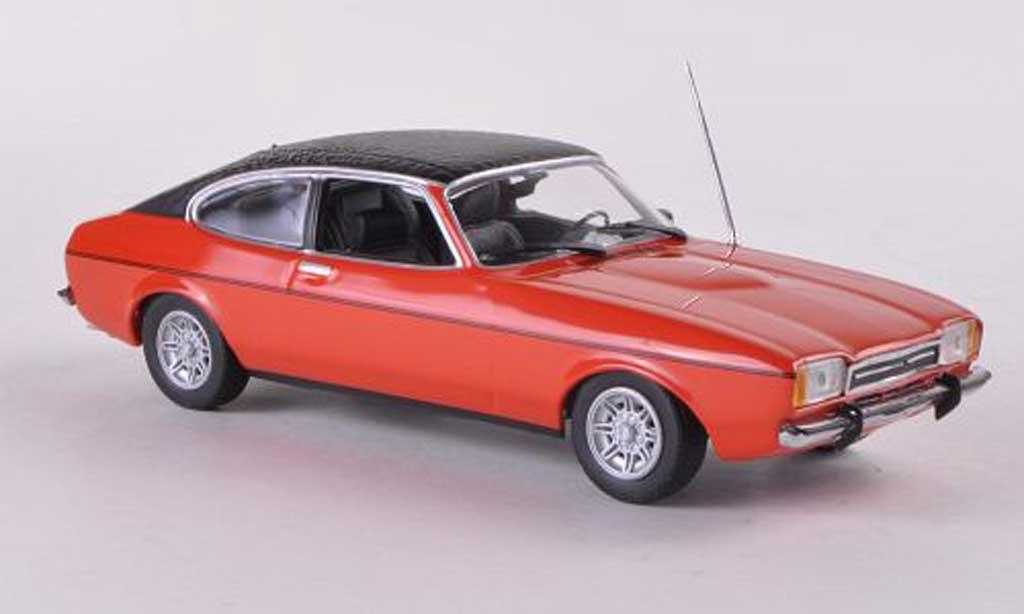 Ford Capri 1/43 Minichamps MkII rouge/mattnoire  1974 miniature