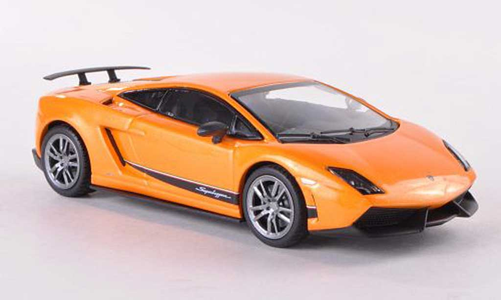Lamborghini Gallardo LP570-4 1/43 Minichamps Superleggera  orange 2011 diecast