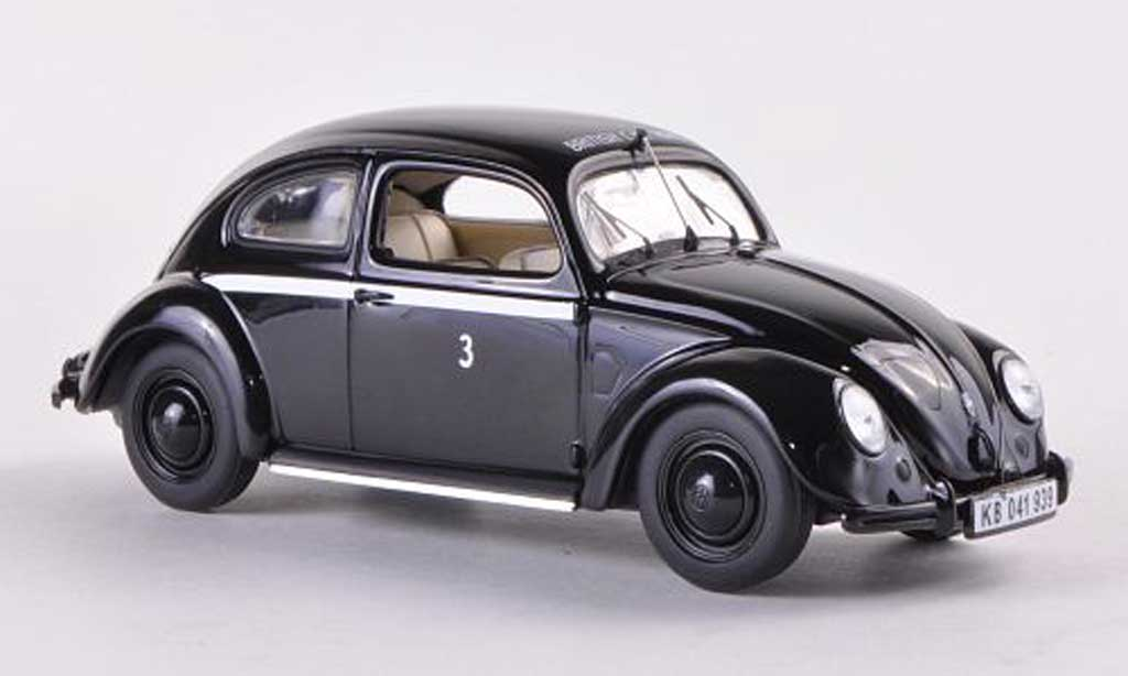 Volkswagen Kafer 1/43 Minichamps 1200 Export British Car Hire  1947 miniature