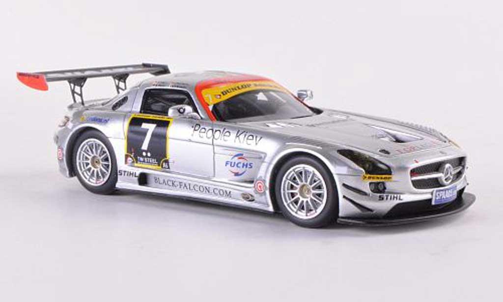 Mercedes SLS 1/43 Minichamps AMG GT3 No.7 Team Black Falcon 24h Dubai  2011 Jager/Seyffarth/Heyer/Breslin diecast