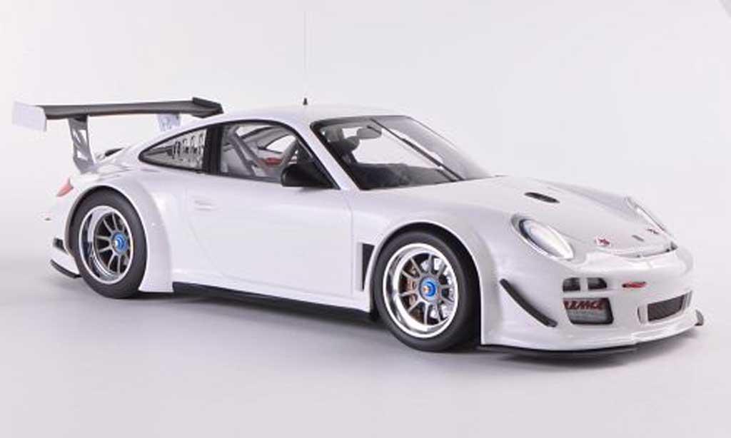 Porsche 997 GT3 RS 2010 1/18 Minichamps blanche Plain Body miniature
