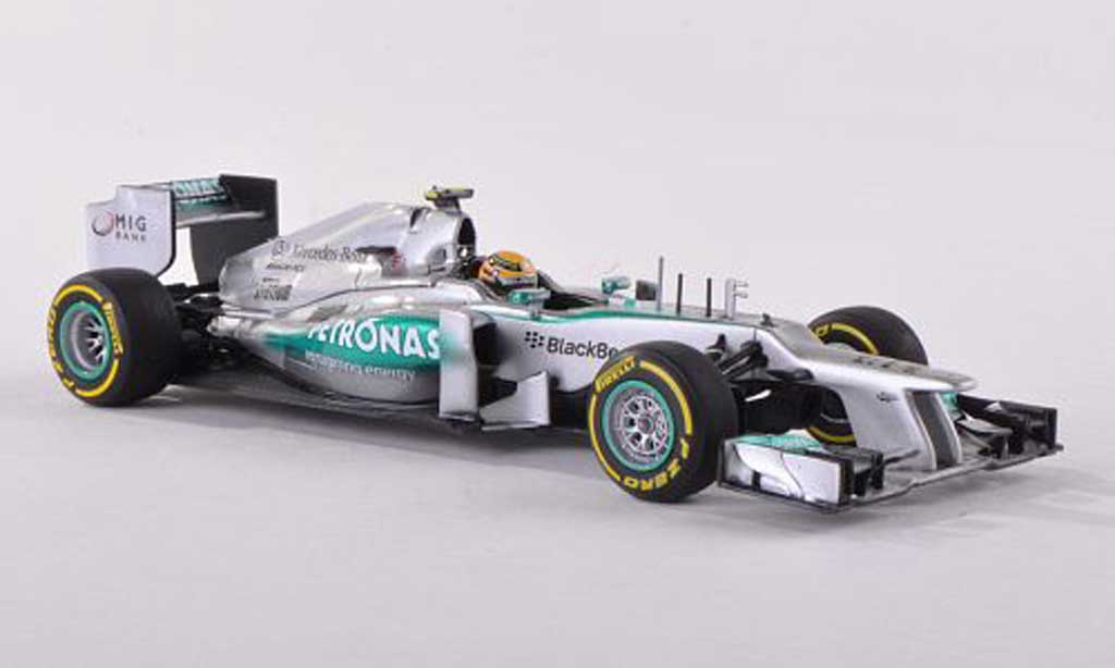 Mercedes F1 1/43 Minichamps AMG Team No10 Petronas L.Hamilton Showcar 2013 diecast model cars