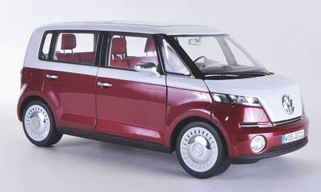 Volkswagen Bulli 1/18 Norev Concept rosso/bianca Autosalon Genf 2011 miniatura