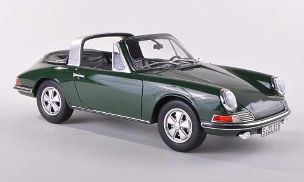 Porsche 901 1967 1/43 GT Spirit S Targa noire-vert miniature