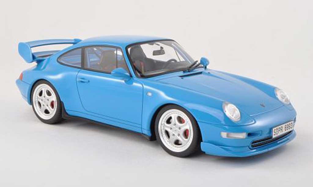 Porsche 993 RS 1/18 GT Spirit Carrera Clubsport clair-bleu 1995 coche miniatura