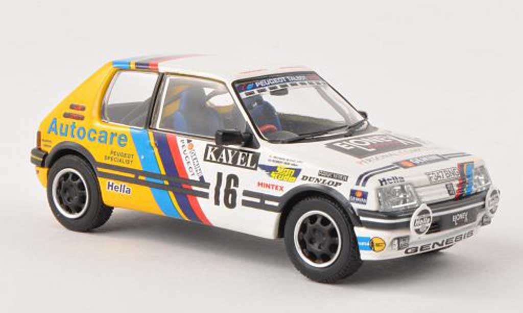 Peugeot 205 GTI 1/43 Vanguards 1.9 No.16 Kayel Graphics Rally Wales 1991 R.Burns/R.Reid modellino in miniatura