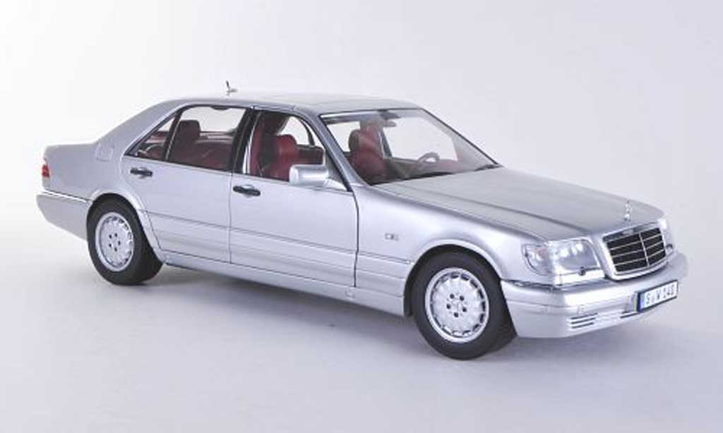 Mercedes Classe S 1/18 Norev S 320 (W140) grey 1994 diecast model cars