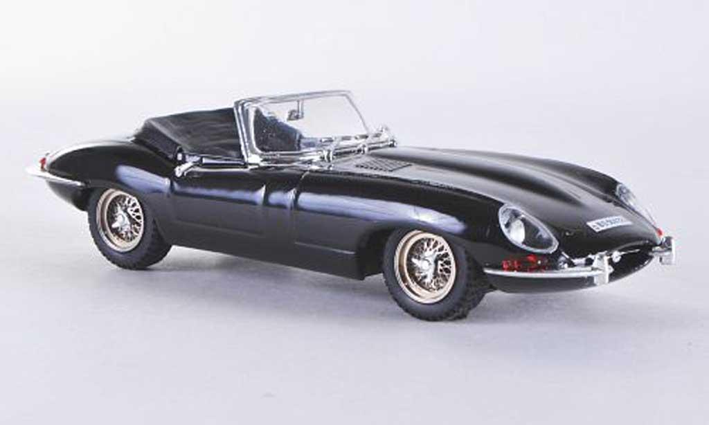 Jaguar E-Type 1/43 Best E Coupe Spider negro miniatura