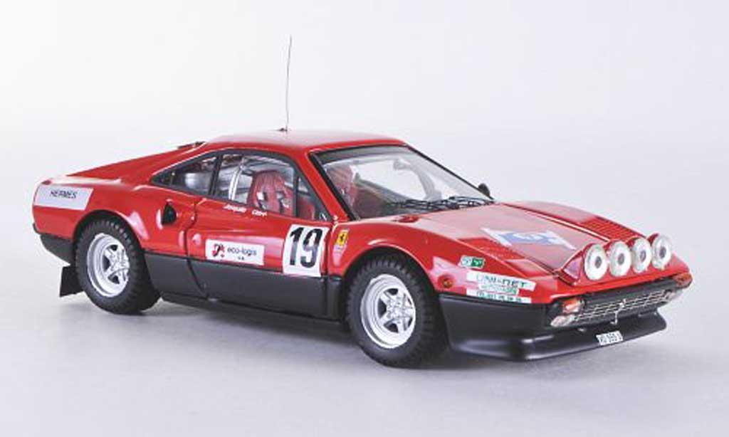 Ferrari 308 GTB 1/43 Best Rally ST Cergue No.19 1982 Jaquillard miniature