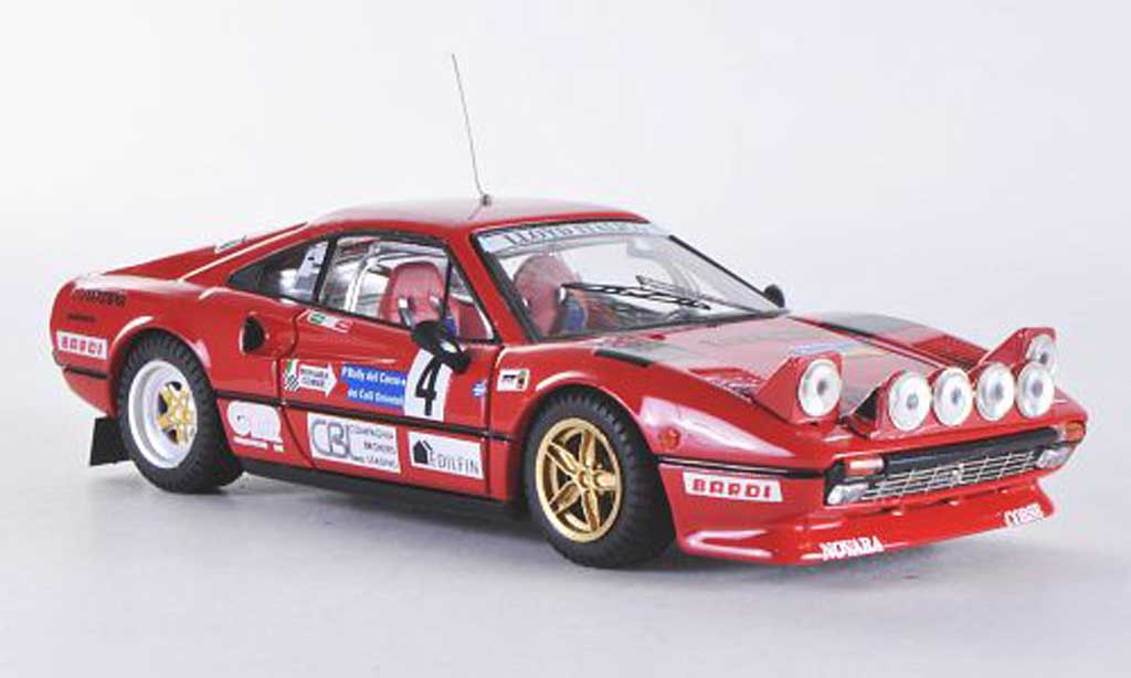 Ferrari 308 GTB 1/43 Best Rally del Carso No.4 1983 Cuccirelli/Muttini miniatura