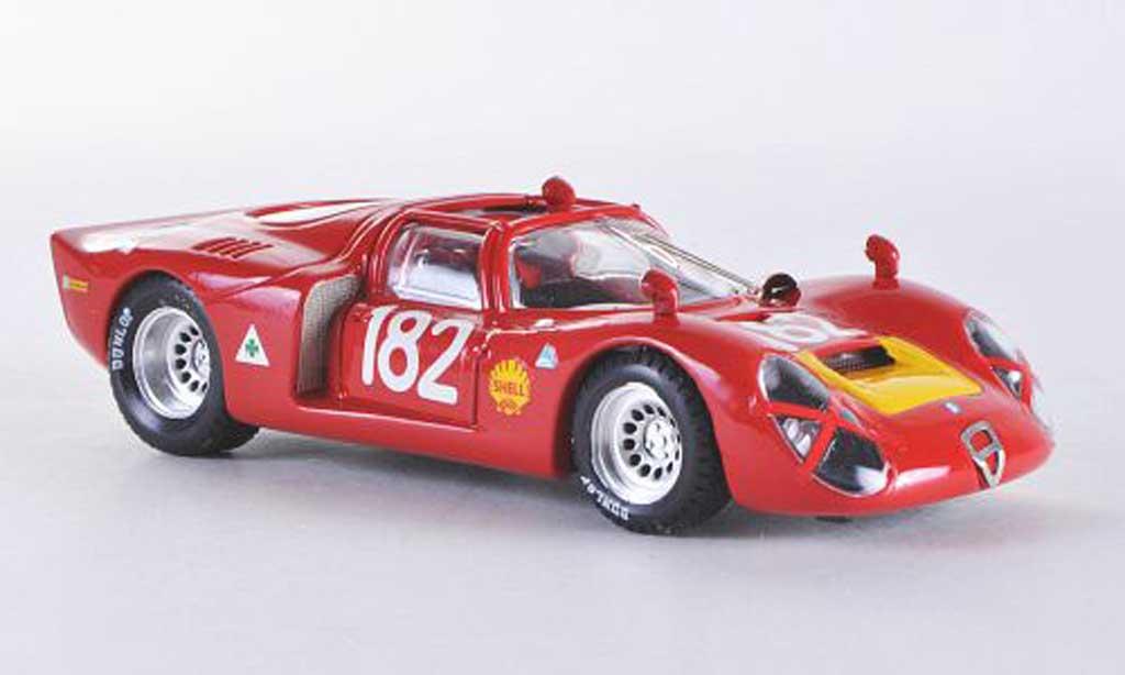 Alfa Romeo 33.2 1968 1/43 Best Spider Targa Florio No.182 Baghetti/Biscaldi miniature