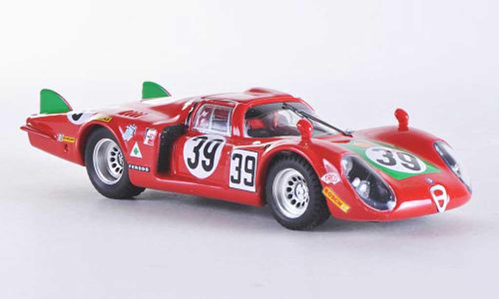 Alfa Romeo 33.2 1968 1/43 Best Coda Lunga Le Mans No.39 Giunti/Galli coche miniatura