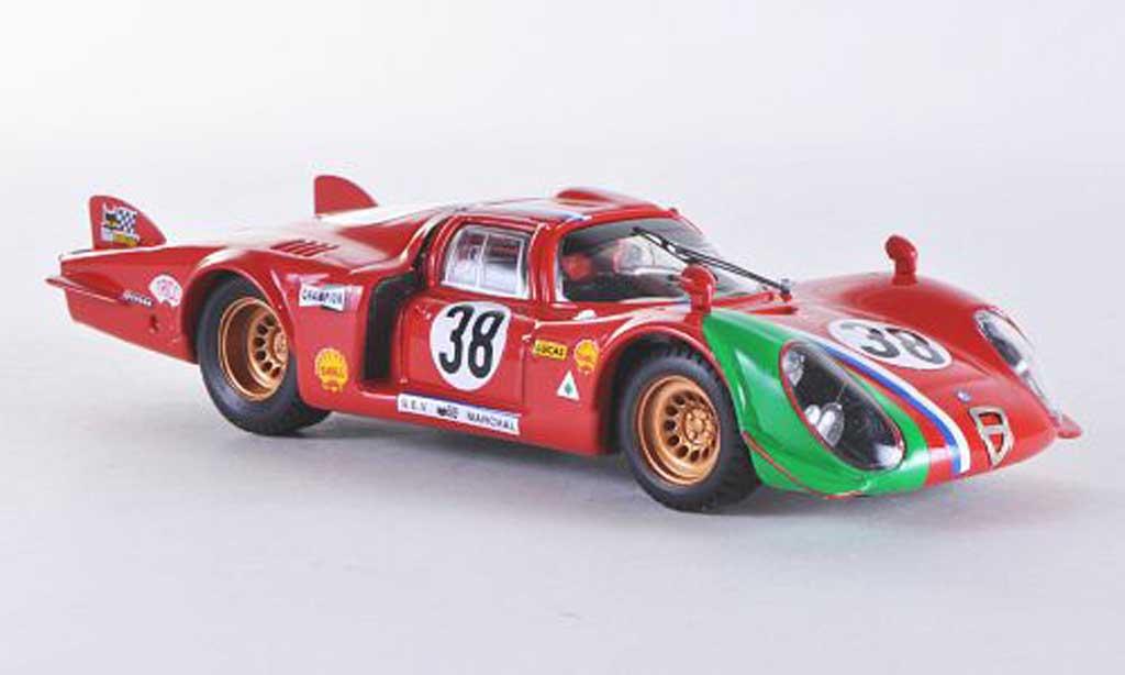 Alfa Romeo 33.2 1969 1/43 Best LM Le Mans No.38 Gosselin/Burgoigni coche miniatura