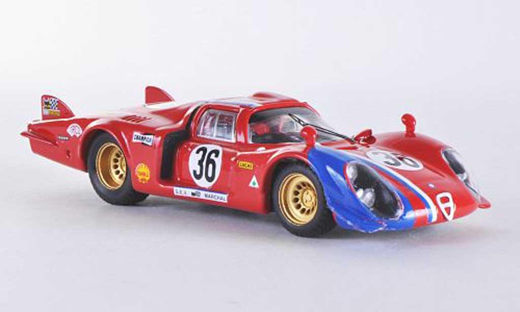 Alfa Romeo 33.2 1969 1/43 Best Le Mans No.36 Pilette/Slotemaker coche miniatura