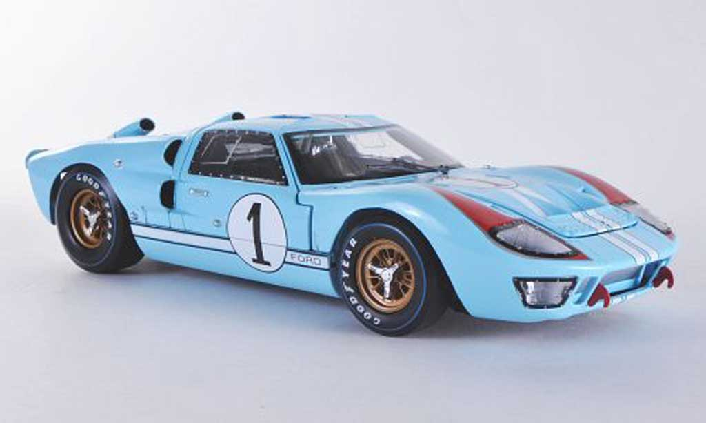 Ford GT 40 1/18 Shelby Collectibles MK II No.1 K.Miles/D.Hulme Team shelby America 1966 miniature