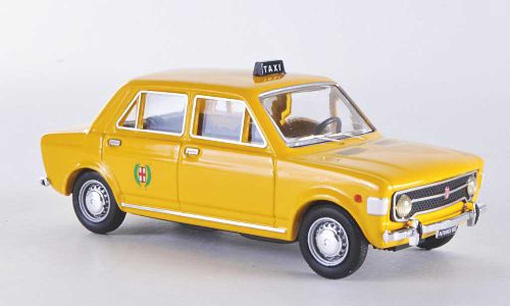 Fiat 128 1/43 Rio 4 turig Taxi Giallo Milano 1971 miniature