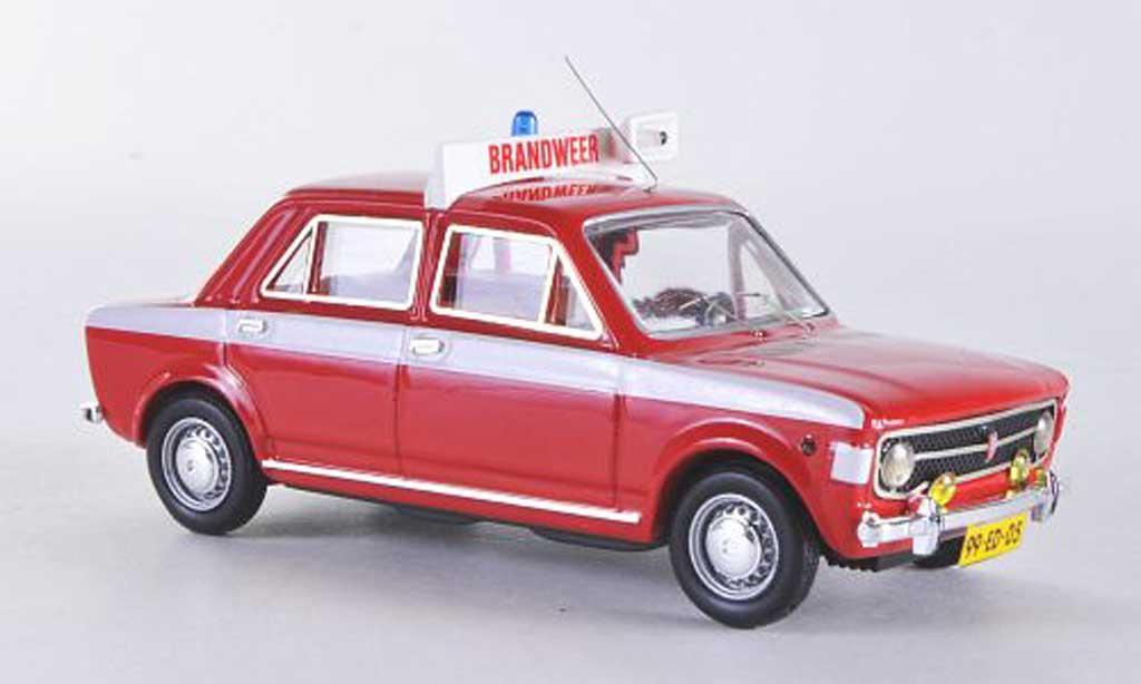 Fiat 128 1/43 Rio 4 turig danische Feuerwehr miniature