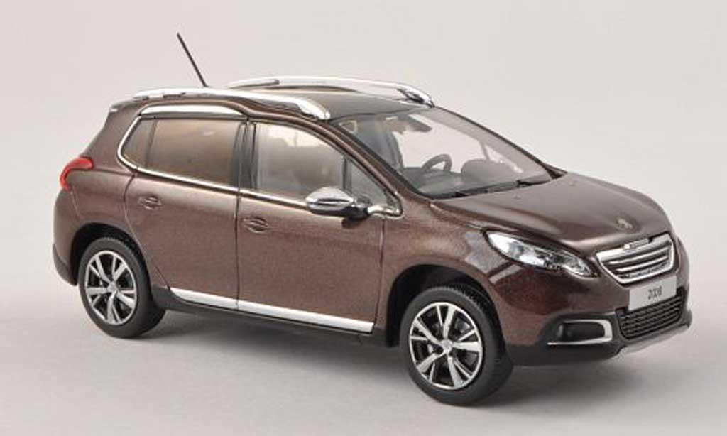 Peugeot 2008 1/43 Norev negro-brun 2013 miniatura