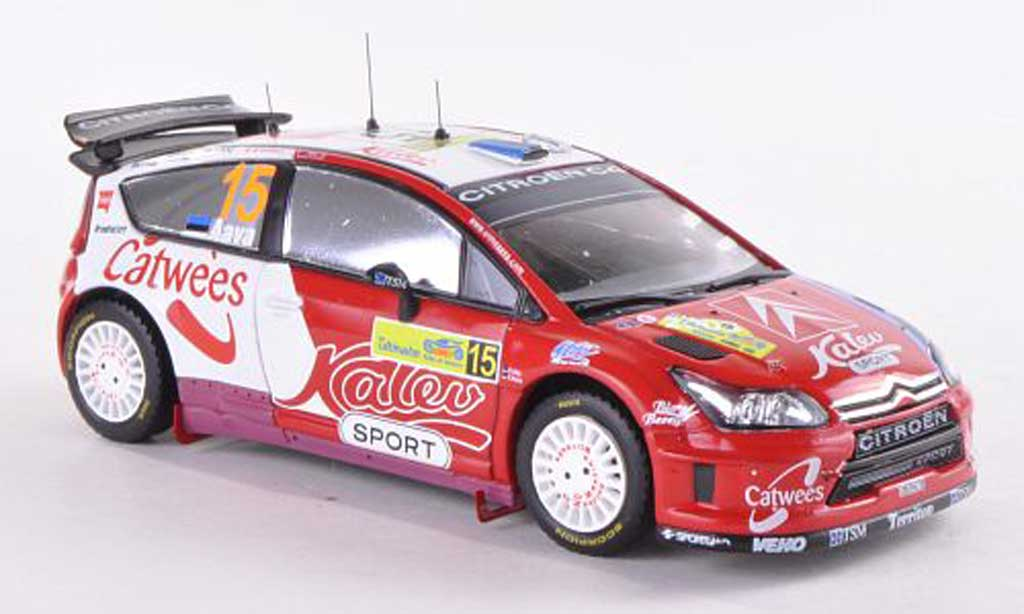 Citroen C4 WRC 1/43 IXO No.15 Kalev Sport Rally Griechenland 2008 U.Aava/K.Sikk miniature