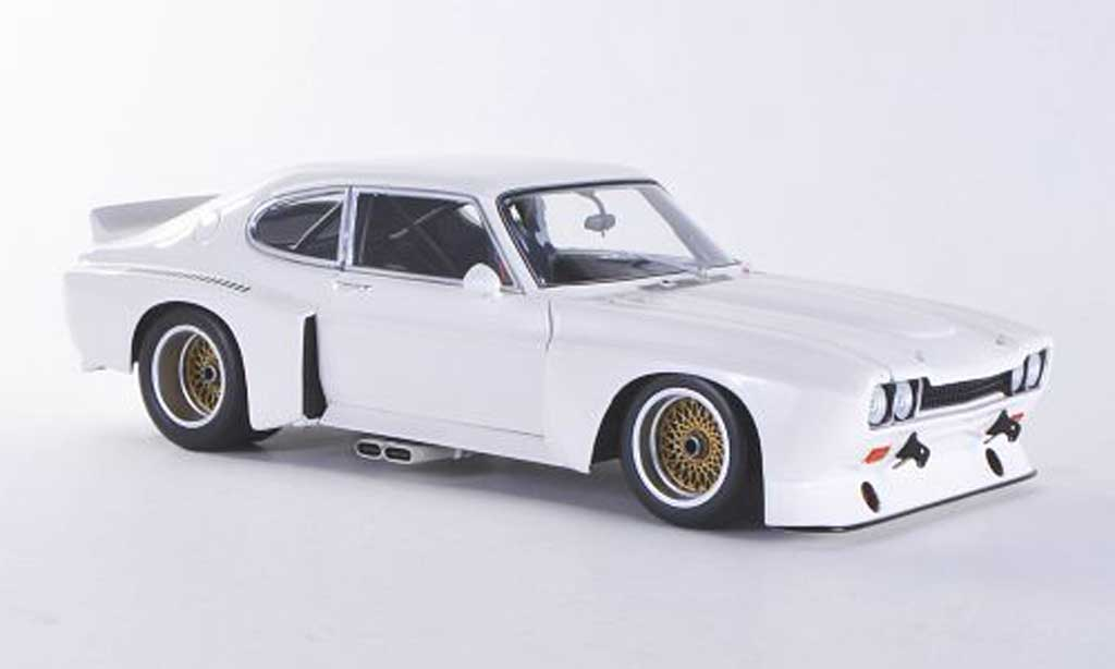 Ford Capri 1974 1/18 Minichamps Capri MkI  3100 blanche Plain Body Version miniature