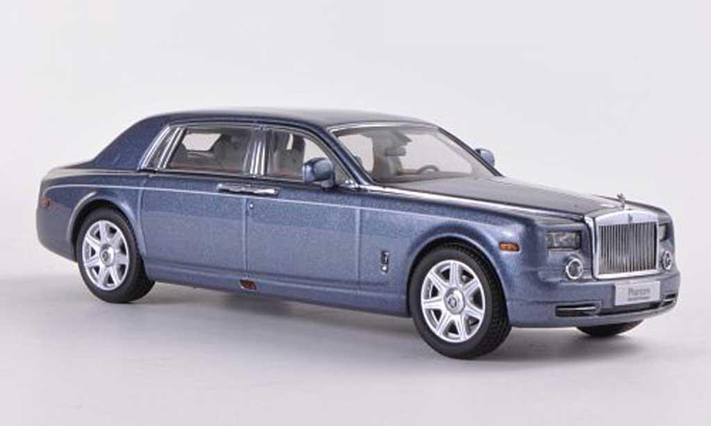 Rolls Royce Phantom 1/43 Kyosho EWB bleu grise miniature